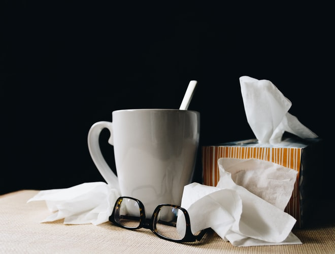 TCM- tissues, glasses and mug