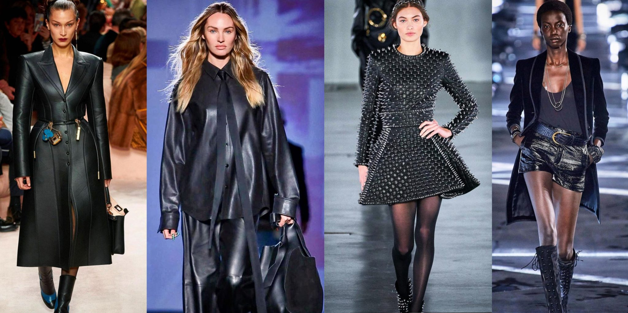 4Runway images of models in leather images by Dwight Samuels